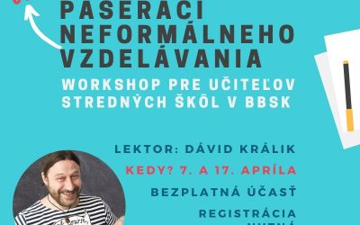 Online workshop Pašeráci neformálneho online vzdelávania s Dávidom Králikom